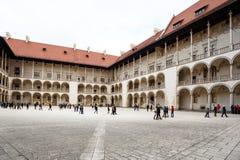 Das königliche Wawel-Schloss, italienisches palazzo in Krakau Stockfotos
