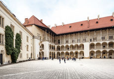 Das königliche Wawel-Schloss, italienisches palazzo in Krakau Lizenzfreie Stockbilder