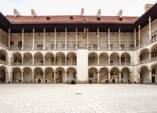 Das königliche Wawel-Schloss, italienisches palazzo in Krakau Lizenzfreie Stockfotografie