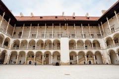 Das königliche Wawel-Schloss, italienisches palazzo in Krakau Stockfotografie