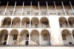 Das königliche Wawel-Schloss, italienisches palazzo in Krakau Stockbild