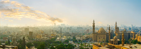 Das Kairo am Abend Stockfotografie