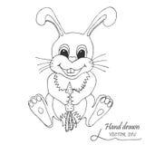 Das Kaninchen mit einer Karotte Stockbilder