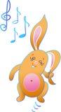 Das Kaninchen tanzt Stockfotografie