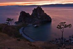 Das Kap Burkhan in der Dämmerung Lizenzfreie Stockfotos