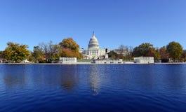 Das Kapitol-Gebäude im Washington DC, Hauptstadt der Vereinigten Staaten von Amerika Lizenzfreie Stockbilder