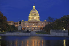 Das Kapitol-Gebäude im Washington DC, Hauptstadt der Vereinigten Staaten von Amerika Stockfotografie