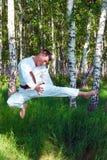 Das karateka. Stockfotografie