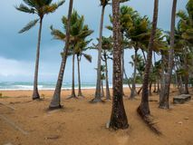 Das karibische Meer unter einem sehr bewölkten Himmel: Die Ruhe vor dem Sturm Puerto Rico, USA lizenzfreies stockbild