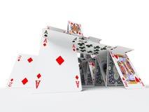 Das Kartenhaus Lizenzfreie Stockbilder