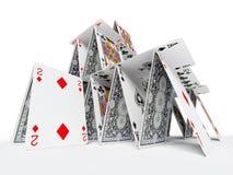 Das Kartenhaus Lizenzfreie Stockfotografie