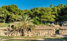 Das Karthago-Amphitheater, ein acient römisches Amphitheater in Tunis, Tunesien Stockfotos