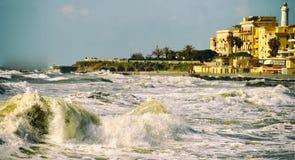 Das Kasino und der römische Hafen Stockbilder