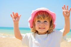 Das Kind auf einem Strand Lizenzfreie Stockfotografie