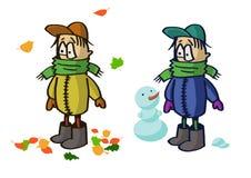 Das Kind in der warmen Kleidung Lizenzfreie Stockbilder