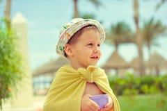 Das Kind in einem Hut Lizenzfreie Stockfotos