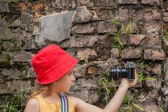 Das Kind fotografiert sich Lizenzfreie Stockfotografie