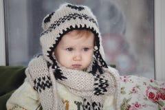 Das Kind im Hut Lizenzfreie Stockbilder