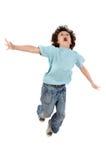 Das Kindspringen Stockbild