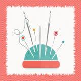 Das Kissen für flache Vektorillustration der Nadeln Stockbilder