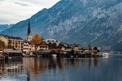 Das kleine Dorf von Hallstatt, Ober?sterreich lizenzfreie stockfotografie