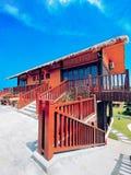 Das kleine Gebäude von Reis Park in Sanya Lizenzfreie Stockfotos