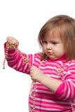 Das kleine Kind mit Kornen Stockfoto