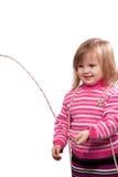 Das kleine Kind mit Kornen Lizenzfreie Stockfotos