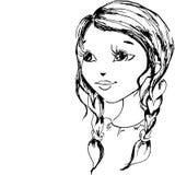Das kleine Mädchen hat in a gezeichnet   Lizenzfreie Stockfotografie