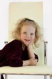 Das kleine Mädchen. Lächeln. Stockbilder