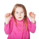 Das kleine Mädchen sehr überrascht Lizenzfreies Stockfoto