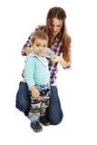 Das Kleinkind oben kleiden Lizenzfreie Stockfotografie