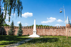 Das kleinste Monument zu Lenin in Yelabuga Stockbilder