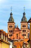 Das Kloster in der barocken Stadt Amorbach, Bayern, Deutschland Lizenzfreie Stockfotos