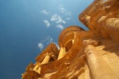 Das Kloster-PETRA Jordanien stockfoto