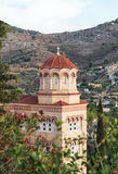 Das Kloster von Agios Nektarios in der Insel Aegina in Griechenland Stockbilder