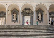das Kloster von Bramante, Benediktinerabtei von Monte Cassino Italien Stockbilder