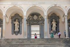 das Kloster von Bramante, Benediktinerabtei von Montecassino Italien Stockbild