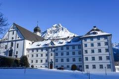 Das Kloster von Engelberg Stockfotografie