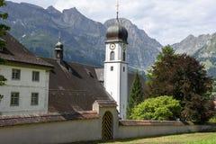Das Kloster von Engelberg auf den Schweizer Alpen Lizenzfreies Stockbild