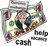 Das komische Bild des US-Dollars. lizenzfreie abbildung