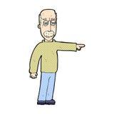 das komische Gestikulieren des alten Mannes der Karikatur gehen hinaus! Lizenzfreie Stockfotografie