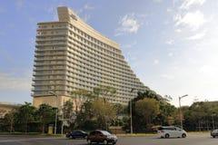 Das Konferenzzentrumhotel Xiamen-Internationaler Konferenz, luftgetrockneter Ziegelstein rgb Stockbild