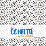 Das Konfetti-Vektor-Muster Lizenzfreie Stockfotos
