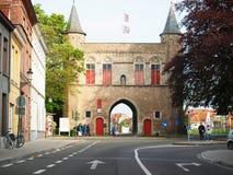 Das Kontrollturmhaus von Brügge. Stockfoto