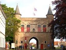 Das Kontrollturmhaus von Brügge. Stockbild