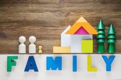 Das Konzept der glücklichen Familie Lizenzfreies Stockbild
