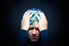 Das Konzept der globalen Katastrophe lizenzfreies stockfoto