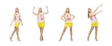 Das Konzept der jungen Frau in Mode stockbilder