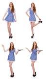 Das Konzept der jungen Frau in Mode Stockfoto